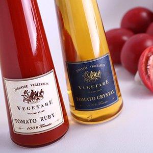 画像1: トマトクリスタル トマトルビー紅白2本セット(化粧箱入り)