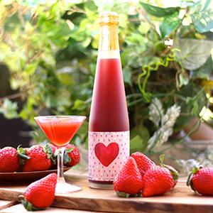 苺のノンアルコールスパークリング