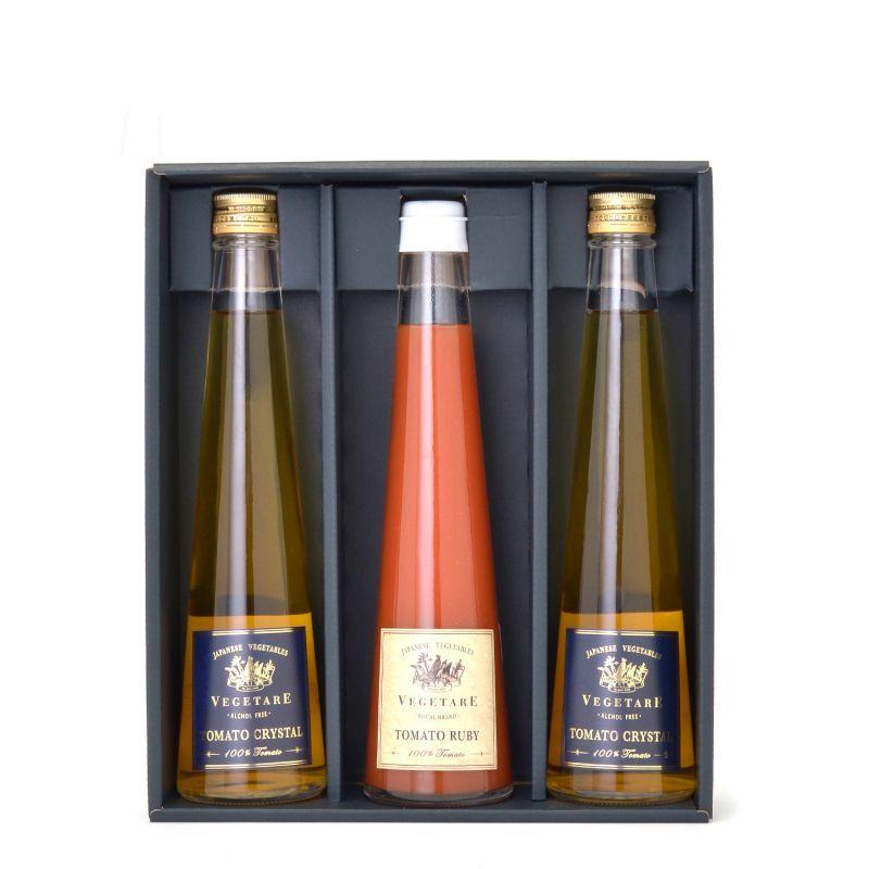 トマトクリスタル&トマトルビー紅白3本セット(化粧箱入り)