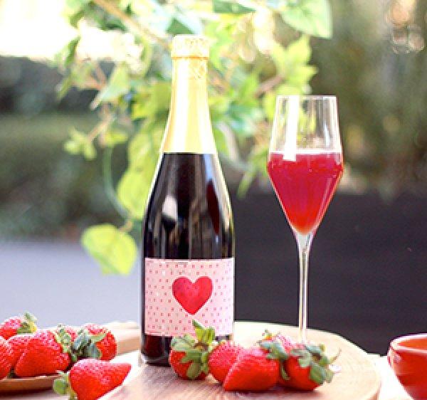 画像1: 【期間限定】苺のノンアルコールスパークリング(フルボトル) (1)