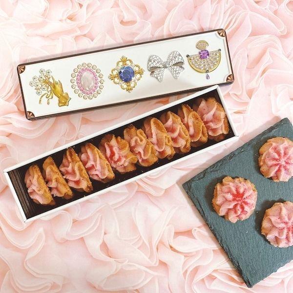 画像1: グルテンフリーの宝石箱クッキー(苺) (1)
