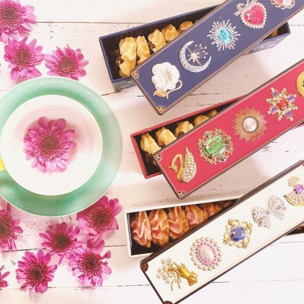 画像1: グルテンフリーの宝石箱クッキー3缶セット(チョコチャンク&苺&ハーフハーフ) (1)